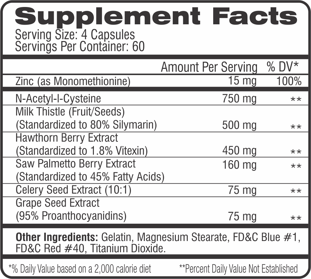 Cycle Assist Label (Supp Facts)